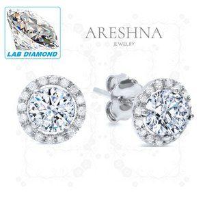 4ct Lab Diamond Luxury Stud Earrings